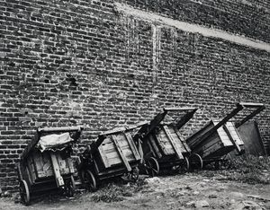 The carts of the paper-and-bottle pickers, Doornfontein, April 1974 (4_2229) by David Goldblatt contemporary artwork