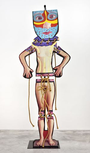 Standing Nude no.3 by Karel Appel contemporary artwork