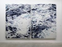 Wave No. 1 & 2 by Shi Zhiying contemporary artwork painting