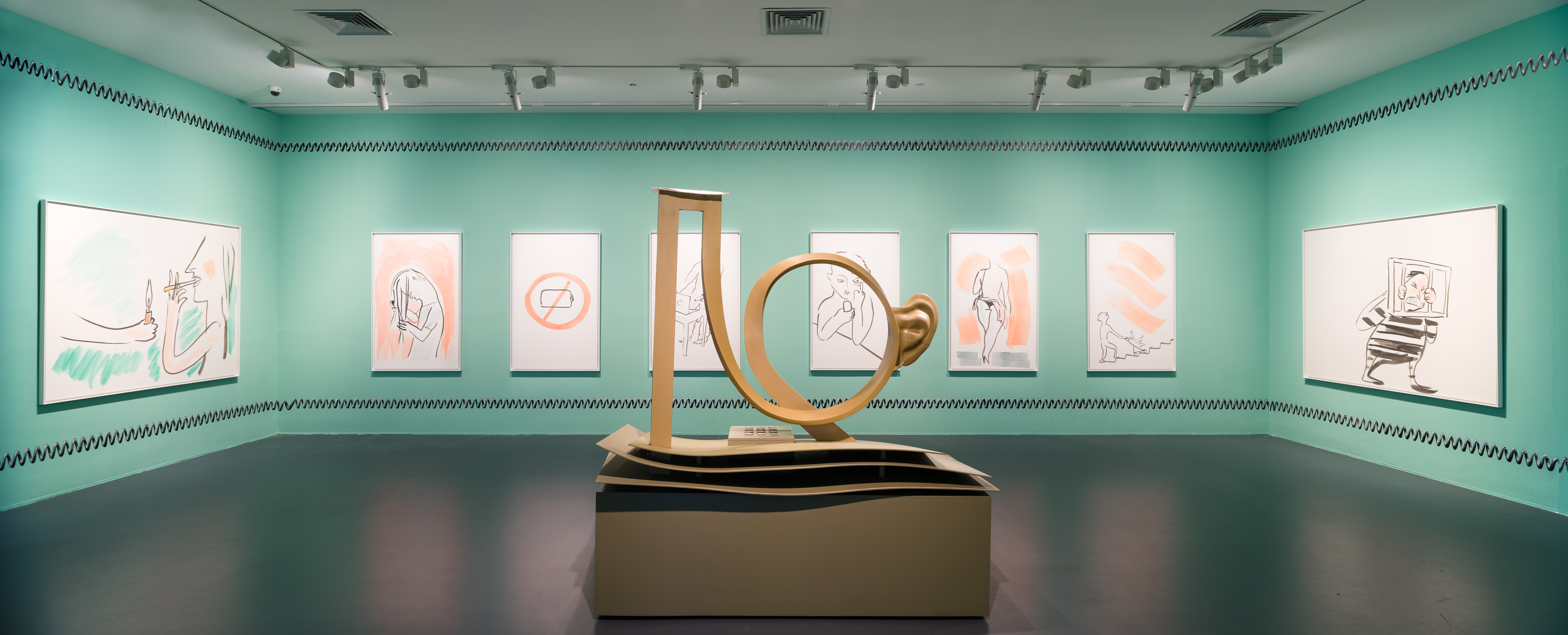 Camille Henrot, Exhibition view at OVERPOP at the Yuz Museum, Shanghai. Image courtesy Yuz Museum.