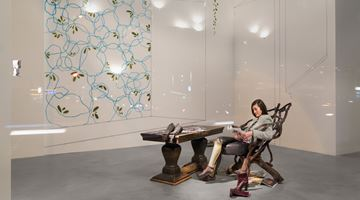 Contemporary art exhibition, Maria Loboda, Woman observing the Alpha Persei Cluster at Galerie Thomas Schulte, Berlin