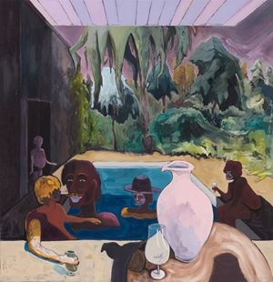 Poolparty in the Shadow by Pierre Knop contemporary artwork