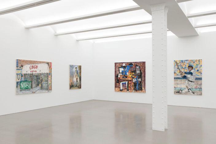 Exhibition view: MADSAKI, Hello Darkness, My Old Friend (I've come to talk with you again), Perrotin, NewYork (29 April–5 June 2021).Courtesy MADSAKI/Kaikai Kiki Co., Ltd. CourtesyPerrotin.Photo: Guillaume Ziccarelli.