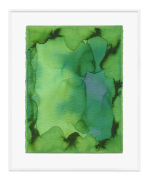 Untitled (Heliogen green) by Jason Martin contemporary artwork