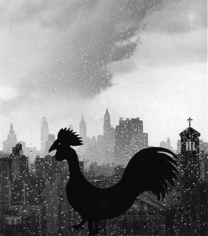 Weather Vane and New York Skyline, September 19 by André Kertész contemporary artwork