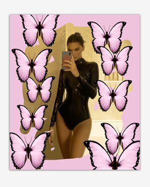 Kendall with Butterflies by Chris Drange contemporary artwork