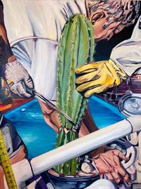 Cactus by Rex Southwick contemporary artwork painting, works on paper
