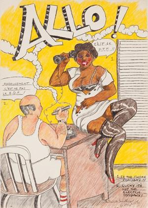 The French Secretary II by Robert Colescott contemporary artwork