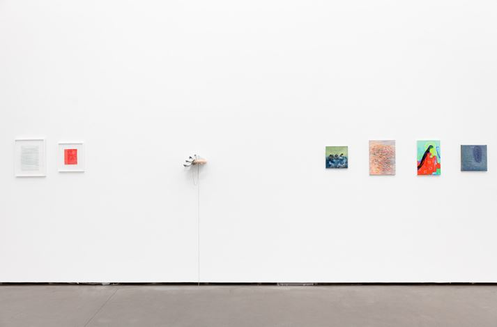 Exhibition view: Group Exhibition, Gifts for you, Galerie EIGEN + ART, Berlin (5 December–19 December 2019). Courtesy Galerie EIGEN + ART. Photo: Otto Felber.