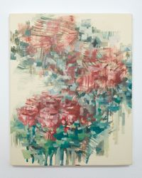 Flower Stall by Reina Mikame contemporary artwork painting, works on paper
