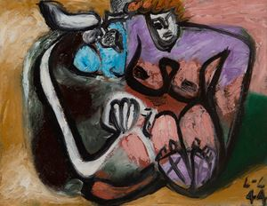 Taureau et femme enlacés by Le Corbusier contemporary artwork
