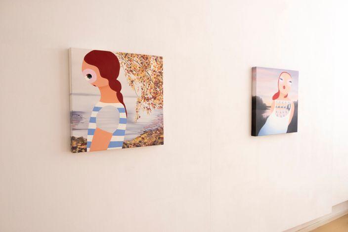Exhibition view: Kirsa Andreassen, And Which Sound – Paintings & Ceramics, Micheko Galerie, Munich (11 June–14 August 2021). Courtesy Micheko Galerie.
