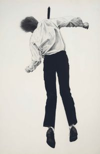 Untitled (from Men Trapped In Ice series) by Robert Longo contemporary artwork works on paper, drawing