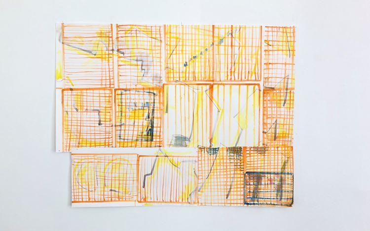Chris Reinecke,Arbeitstitel 2 (2020). Watercolour on washi-paper. 101 x 131 cm. Courtesy Beck & Eggeling International Fine Art.