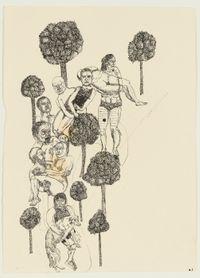 Wandeling by Bram Demunter contemporary artwork works on paper