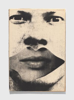 Untitled (Self-portrait with Lips) by Ray Johnson contemporary artwork