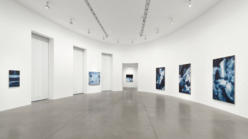 Exhibition view: Y.Z. Kami, Night Paintings, Gagosian, Rome (18 January–21 March 2020). Artwork © Y.Z. Kami. Courtesy Gagosian.