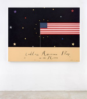 Endless American Flag by Pavel Pepperstein contemporary artwork
