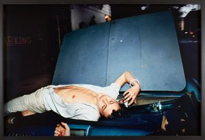 French Chris on the Convertible, NYC by Nan Goldin contemporary artwork