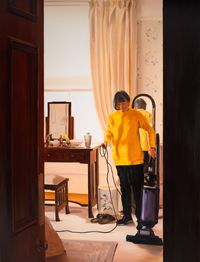 Hoovering, First Thing, December by Caroline Walker contemporary artwork painting