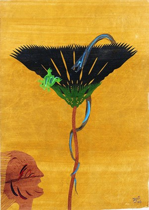 Observing a Snake after a Frog 有人看見蛇抓青蛙 by Hsia Yan contemporary artwork