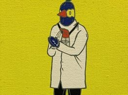 The artist Chang Teng-Yuan creates several humorous artworks about epidemic prevention work