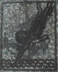 A Crow 一只乌鸦 by Zhu Xiaohe contemporary artwork painting