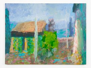 The Yellow Cabin Umbrian Morning by Sargy Mann contemporary artwork