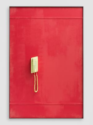 Yellow Telephone (Searching) by Martin Boyce contemporary artwork