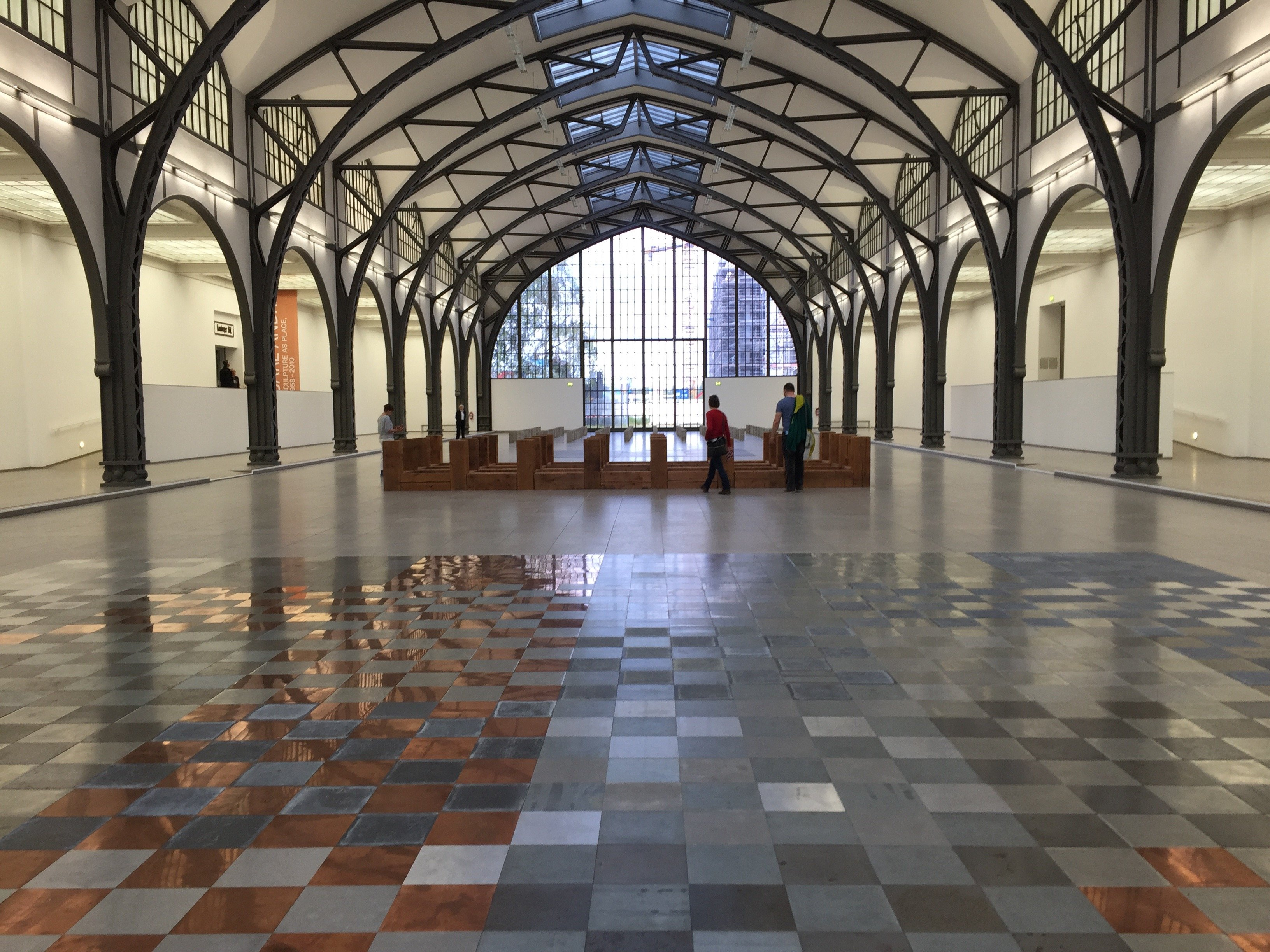 Exhibition view, Carl Andre: Sculpture as Place, 1958-2010 at Hamburger Banhof Museum fur Gegenwart - Berlin. Courtesy Diana d'Arenberg.