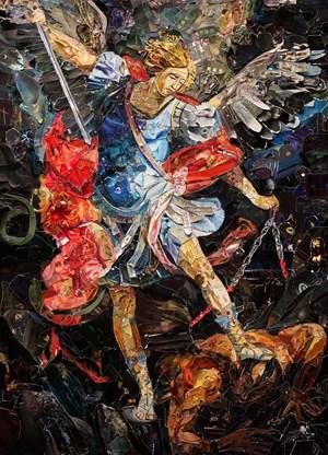 Repro (saints): Archangel Micahel after Dorko Topalski by Vik Muniz contemporary artwork