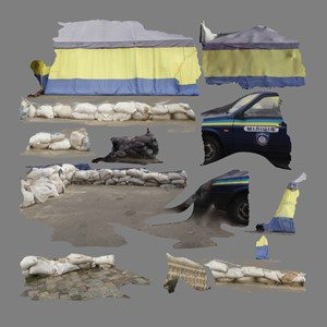 Tent/Texture, Kharkiv by Hito Steyerl contemporary artwork