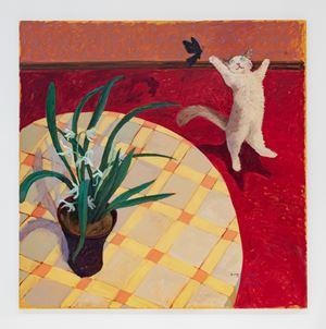 Orchid-Cat-Butterfly 兰花-猫-蝴蝶, by Kong Huidong contemporary artwork