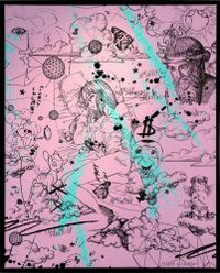 Take me to paradise - pink by Joseph Klibansky contemporary artwork print