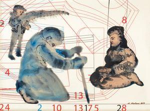 Complexity of Communication 3 by Nalini Malani contemporary artwork