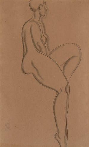 Nude II by Sanyu contemporary artwork