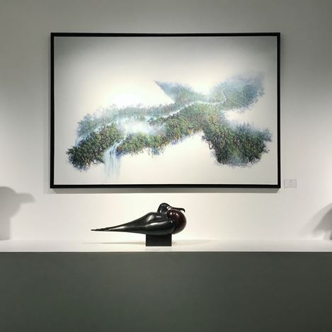 Exhibition view: Group exhibition,Portrait of a Bird,Galerie Dumonteil, Paris (22 October–21 November 2020). Courtesy Galerie Dumonteil.