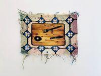 Schneidebrett mit Salatbesteck by Ingrid Wiener contemporary artwork textile
