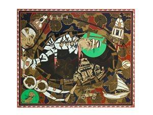 Found Buried #1 by Lari Pittman contemporary artwork