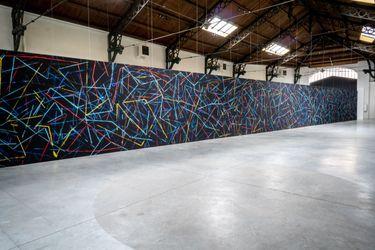 Exhibition view: Alice Anderson, Geometric Dances,Galerie Valérie Bach, Bruxelles (10 September–30 October 2021). CourtesyGalerie Valérie Bach, Bruxelles.
