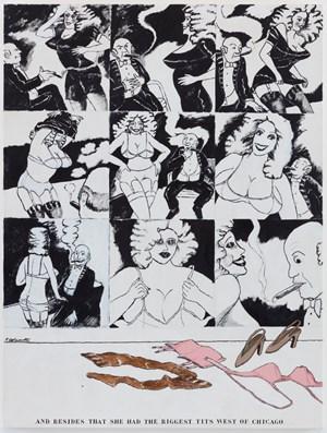 Tenderloin Touché by Robert Colescott contemporary artwork