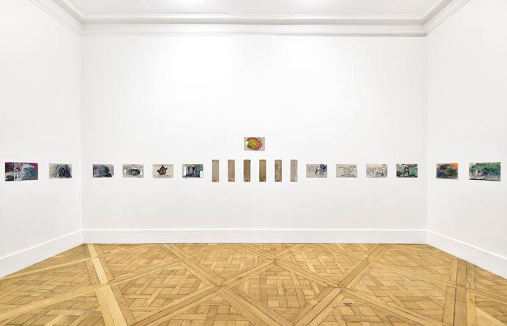 Exhibition view:Anna Boghiguian, Campoli Presti, London (19 February–19 March 2021). Courtesy Campoli Presti.