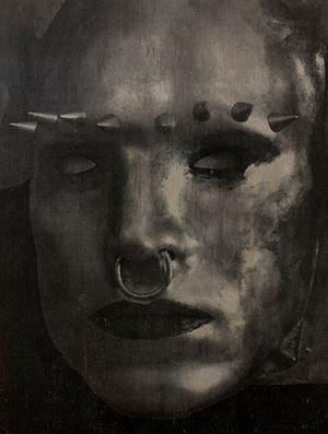 Rainbow Warrior (Face II) by Tobias Bernstrup contemporary artwork mixed media