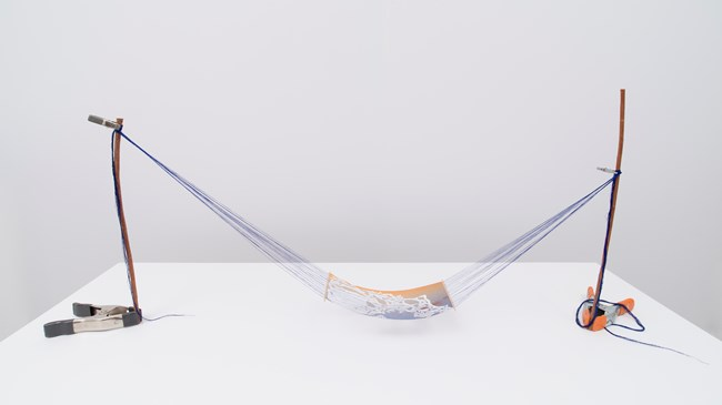 Model for a Heavy Sky by Sarah Sze contemporary artwork