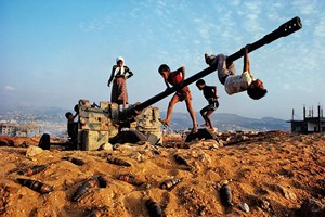 Children playing near Beirut by Steve McCurry contemporary artwork