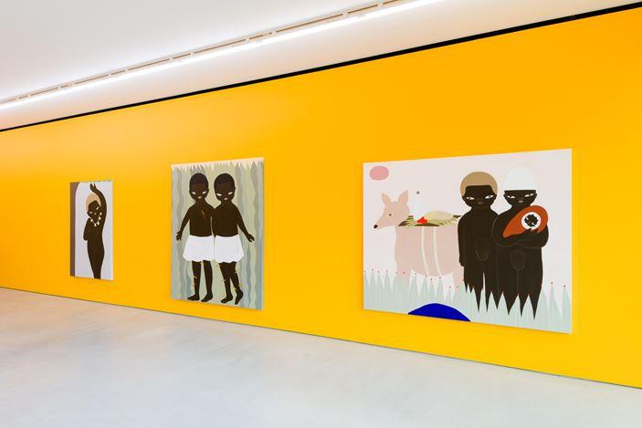 Exhibition view: Asuka Anastacia Ogawa, Blum & Poe, Tokyo (23 September–7 October 2020). © Asuka Anastacia Ogawa. Courtesy the artist and Blum & Poe, Los Angeles/New York/Tokyo. Photo: SAIKI.