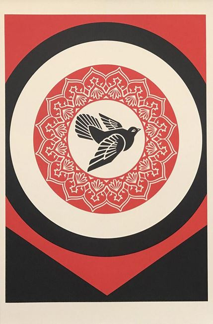 Rise from the Ashes (Black) by Shepard Fairey contemporary artwork