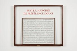 Bustée, hanchée de préférence douce by Sophie Calle contemporary artwork