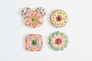 Pinky Floral Donuts by Jae Yong Kim contemporary artwork sculpture