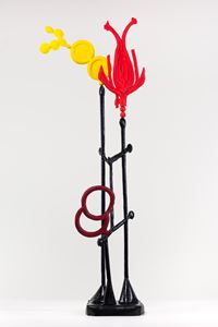 BIOMORPH VERMILLION ROSE by Caroline Rothwell contemporary artwork sculpture